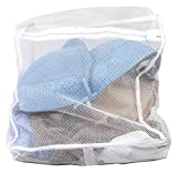 Sunbeam Mesh Intimates Delicate Wash Laundry Bag, White (Small)