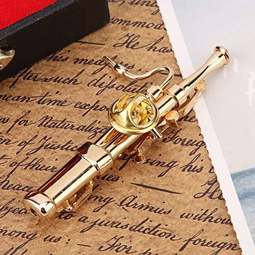 Fagot Instrument Broche, Verguld Oppervlak Verjaardagscadeau voor Vrijetijdskleding