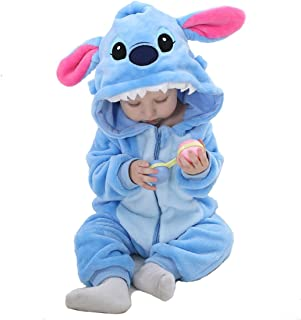 OSEPE Unisex-baby Flannel Romper Animal Onesie Pajamas Outfits Suit