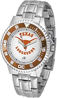 SunTime Texas Longhorns Competitor Men's Watch with Steel Band