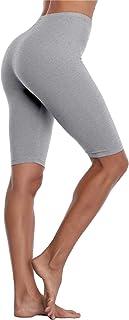 VOGUEMAX Women's Short Leggings Stretchy Mid Tight Leggings Lightweight for Under Dresses/Skirts, Regular and Plus Size