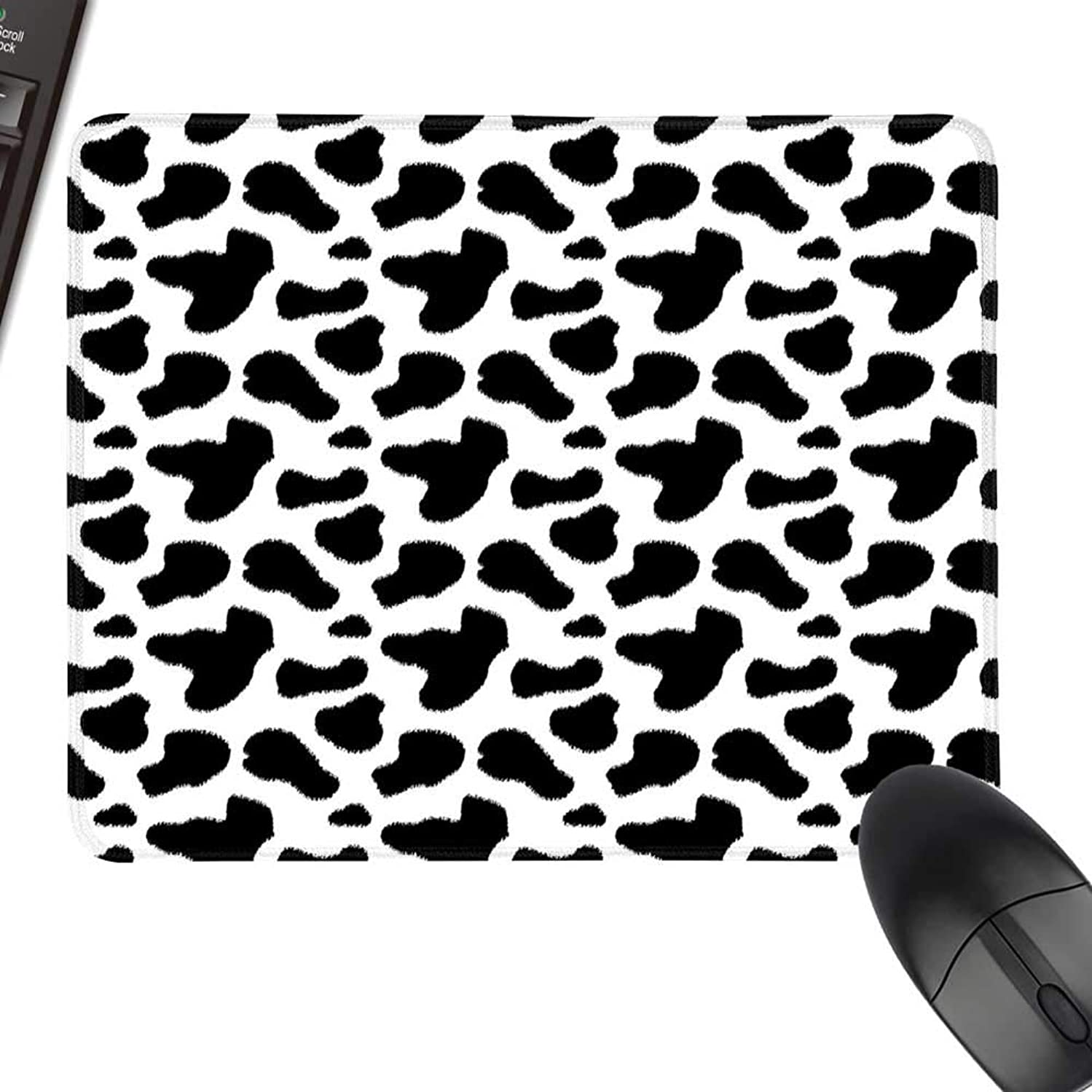 Cow Print Hot Selling Extra Large Mouse Pad Cow Hide Pattern with Black Spots Farm Life with Cattle Camouflage Animal Skin Keyboard Mouse Pad 11.8