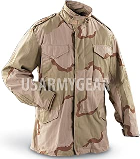 6320a0c1 US MILITARY FIELD JACKET Desert ARMY COAT Jacket M-65 w. Liner Medium M