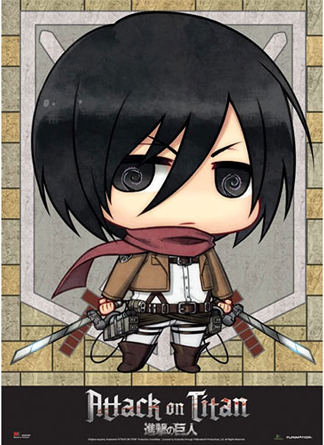 Wall Scroll-Attack on Titan-NEUE SD Misaka Stoff Poster Lizenzprodukt ge60568