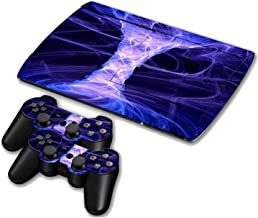 For PS3 Surper slim Nebula Sky Star Cloud Vinyl Decal Skin Sticker For PS3 Super Slim 4000 Console Skins+2PCS Controller Decal,11