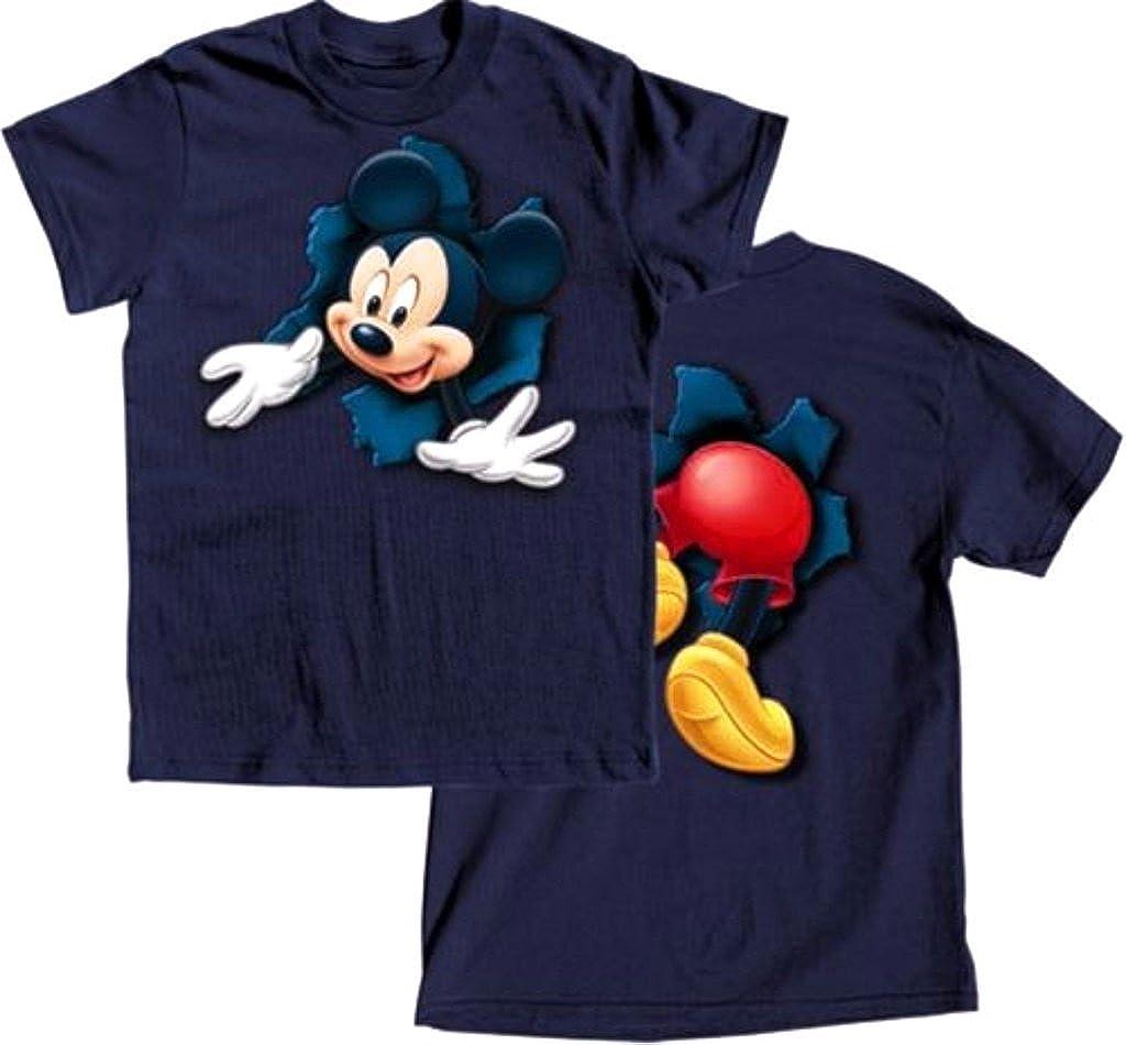 Disney Boys Short Sleeve T-Shirt Pop Out Mickey, Navy