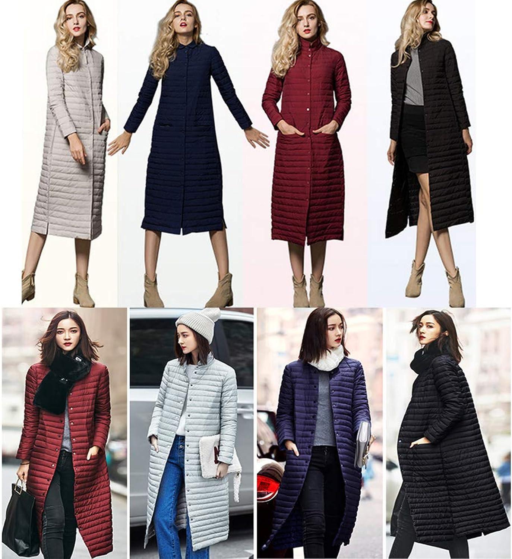 Women's Down Jacket  Women's Cotton Jacket  Winter Style  MidLength Women's Jacket,bluee,L
