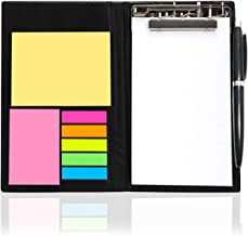 DALUCI Memo Note Pad/Memo Note Book with Sticky Notes & Clip Holder in Diary Style (Note Pad)