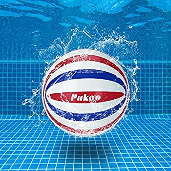 Pakoo Pool Ball-Fun Swimming Pool Toys for Kids 3-12 Under Water Passing Dribbling Diving Sports- Summer Gifts Outdoor Pool Games for Teens Adults Family  6 in Fills with Water or Air