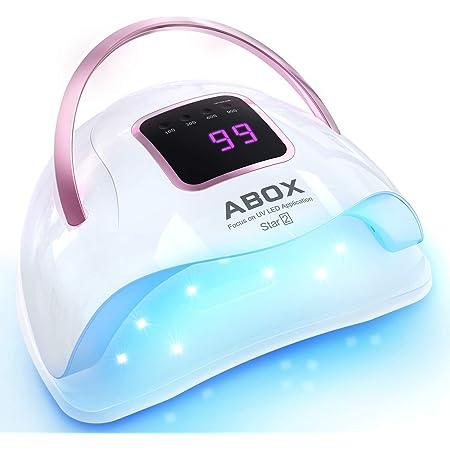 ABOX UVライト レジン用 72Wネイルドライヤー LEDジェルネイルライト 硬化用 4段階タイマー付き 自動センサー ハーネス ジェラートファクトリー 携帯便利 時間節約 日本語説明書付き 24ヶ月保証