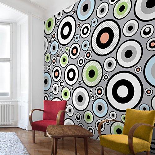 Apalis Vliestapete Cheery Fototapete Quadrat | Vlies Tapete Wandtapete Wandbild Foto 3D Fototapete für Schlafzimmer Wohnzimmer Küche | Größe: 240x240 cm, schwarz, 97543