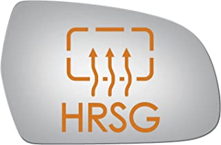 Burco 5435HRSG Convex Passenger Side Power Replacement Mirror Glass for Audi A3, A3 Quattro, A4, A4 allroad, A4 Quattro, A5, A5 Quattro, RS5, S4, S5 (2010, 2011, 2012, 2013, 2014, 2015, 2016, 2017)