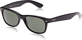 RB2132 - New Wayfarer Non-Polarized Sunglasses Black Frame Crystal Green Lens Size 55