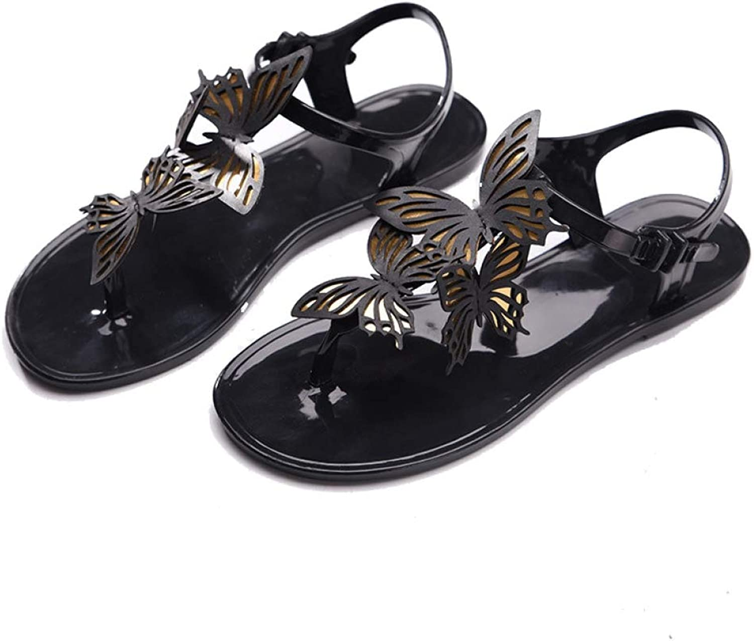 Btrada Women Summer Fashion Sandals Female Flat Flips Butterfly Wings Personalized Flats Casual shoes