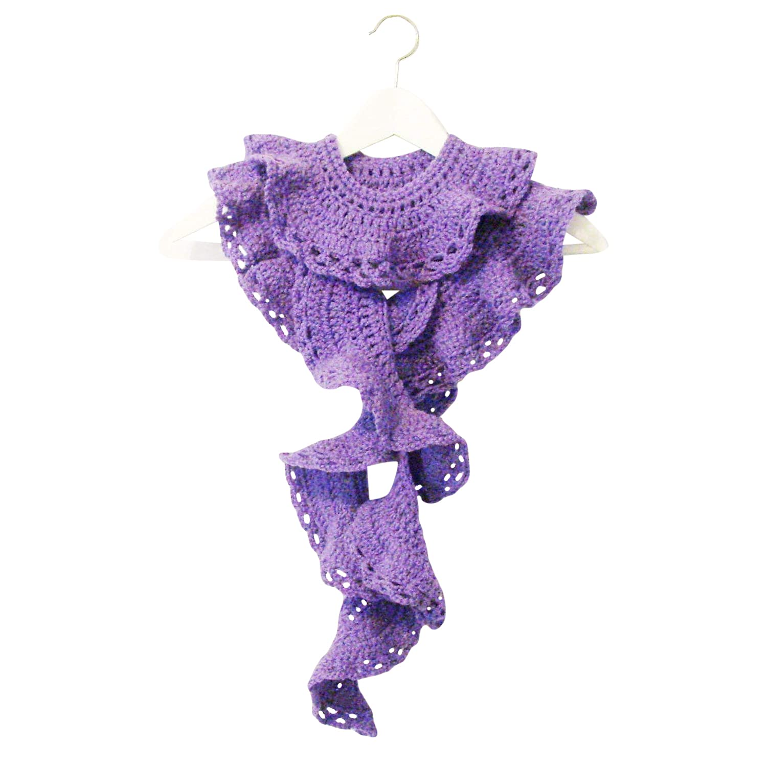 Handmade Lavender Lacy Scarf Boa Eco-Friendly Yarn Ranking TOP19 low-pricing ME2Designs