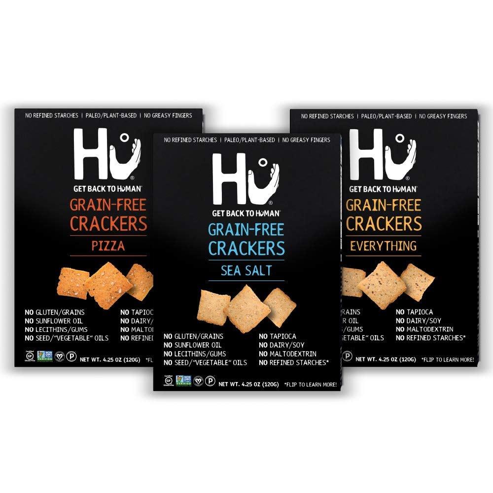 Hu Gluten Free Crackers Variety 3 New 2021 spring and summer new popularity Keto Paleo Friendly Pack