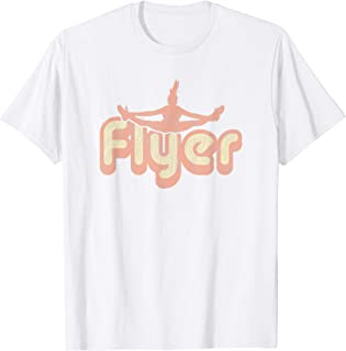 Cheer Shirts for Girls Flyer - Vintage White Cheerleading T-Shirt