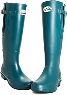 Rockfish Original Tall Adjustable Matte Wellington Boots (5, Dragon Fly)