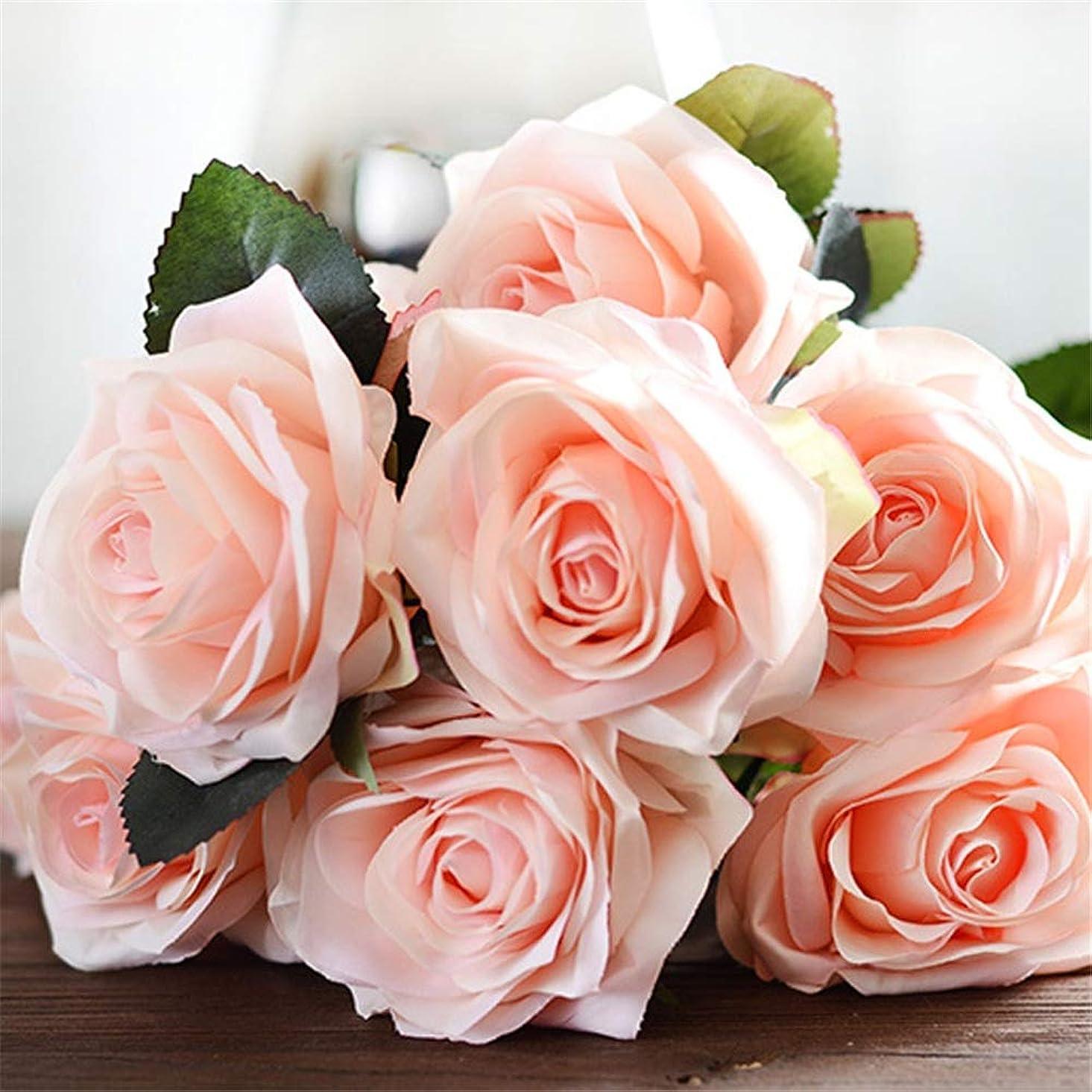 敬な地上で困惑人工観葉植物 鉢植えのない多肉植物、リアルなバラエティの盛り合わせ、プラスチック製の緑の植物盆栽の花 ベッドルーム、リビングルームで使用 (Color : Pink)