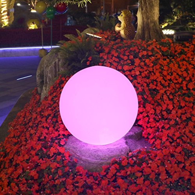 Augrous LED Draussen Stehleuchte 16 Farbe ndern Ball Wasserdicht Dekoration Lampe mit Fernbedienung zum Wohnzimmer Schlafzimmer Flur Salon (gre   D20cm)