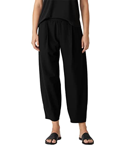 Eileen Fisher Ankle Pleated Lantern Pants in Washable Stretch Crepe