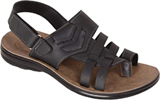 BATA Men Black Formal Sandal with Toe
