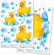 Kiwistar badkamer decoratie totale grootte, muurstickers set boog stickers gekleurd DIN A4 Totale oppervlak: Bogengröße_A4...