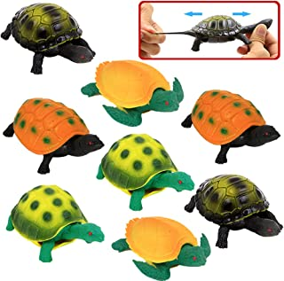 Turtle ToysSea Ocean Animal 5 Inch Rubber Tortoise Turtle Sets(8 Pack)Great Safety Material TPR Super StretchyCan Hide In ...