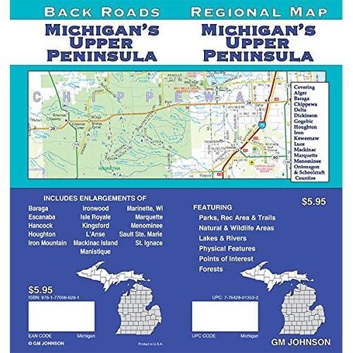 Map of Michigan: Amazon.com