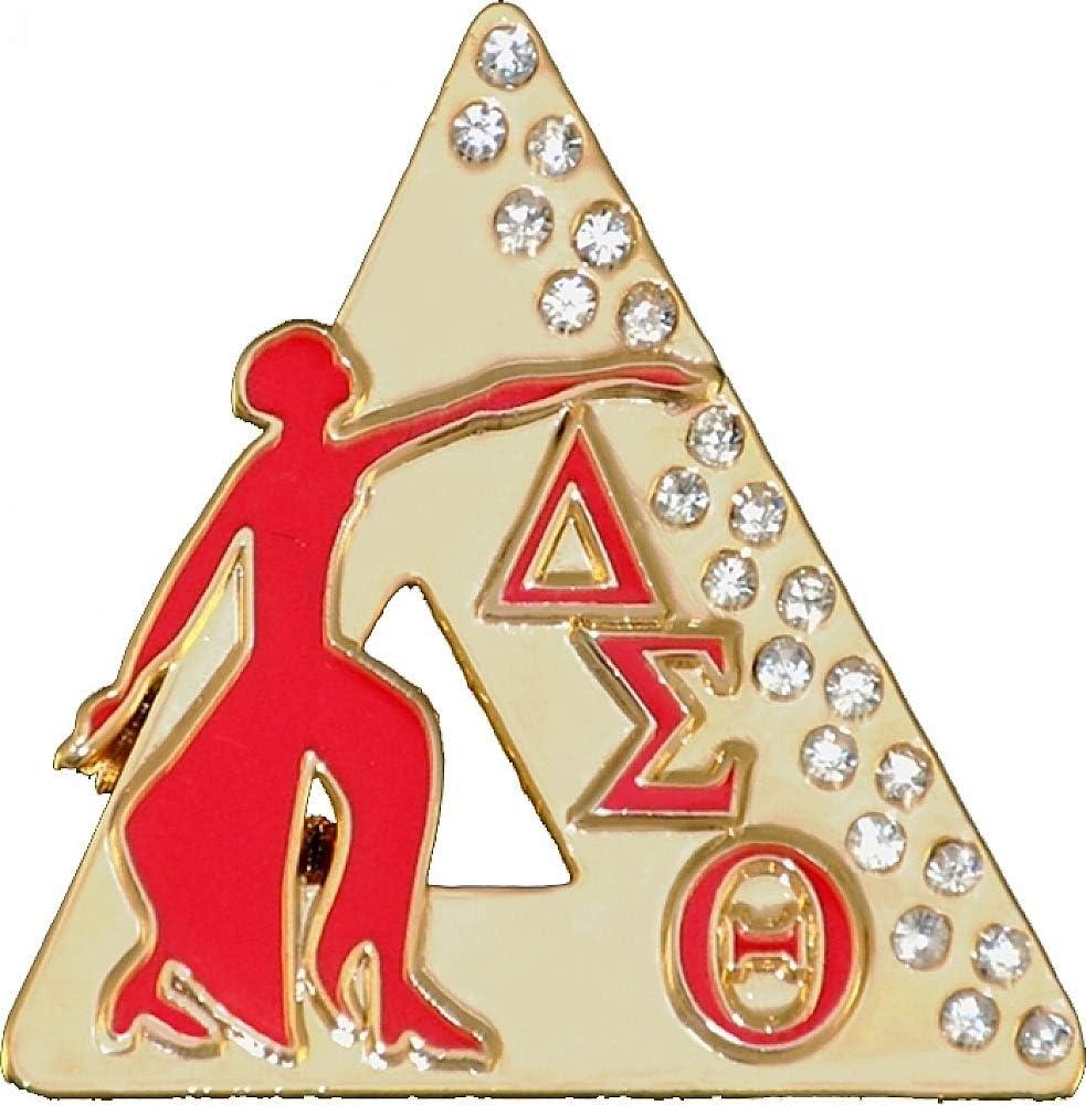 Delta Sigma Theta Diva Jewels Lapel Pin Gold