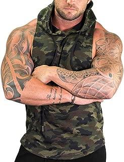 Men Fitness Camouflage Hooded Vest Sleeveless Bodybuilding Slim Fit Thin Super Lightweight Quick-Dry Vest Tank Top