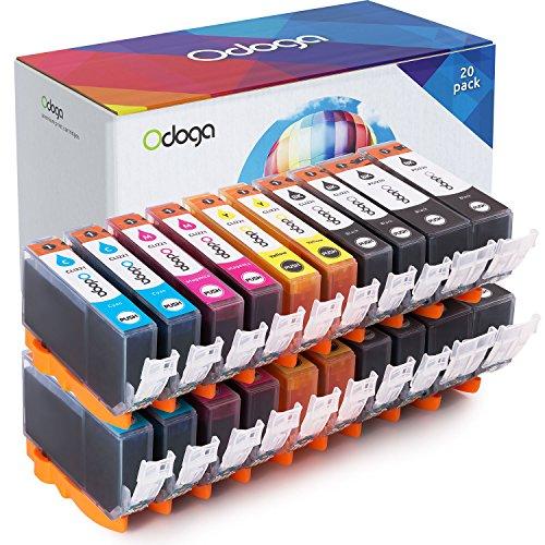 Odoga Compatible PGI-220 CLI-221 Ink Cartridge Replacement for Canon Pixma MX870 MP560 MP620 MX860 iP3600 iP4600 iP4700 MP990 MP980 MP640 [4 XL Black, 4 Black, 4 Cyan, 4 Magenta, 4 Yellow] - 20 Pack