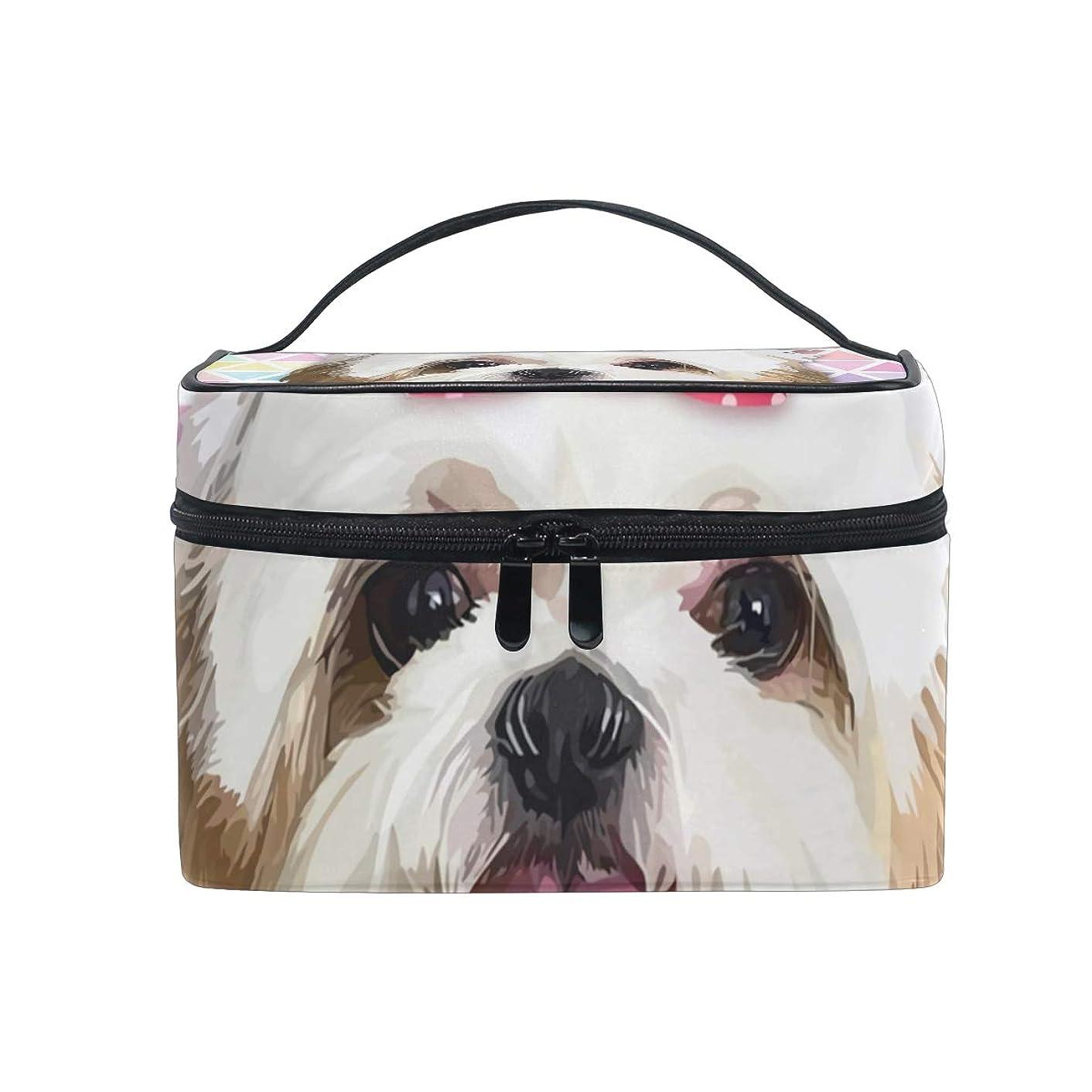 温帯具体的に意識的メイクボックス シチュー犬ペット柄 化粧ポーチ 化粧品 化粧道具 小物入れ メイクブラシバッグ 大容量 旅行用 収納ケース