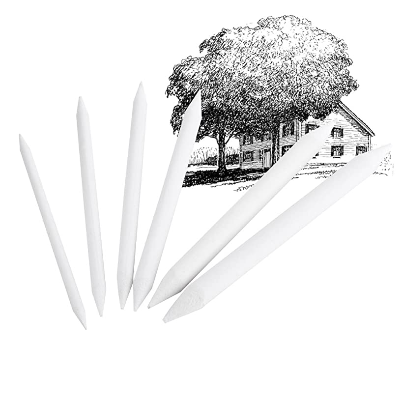 6Pcs Set Rubber Double Head Dedicated Sketch Paper Pen Pastel Charcoal Paper Sketch Drawing Art Painting Supplies White Pen