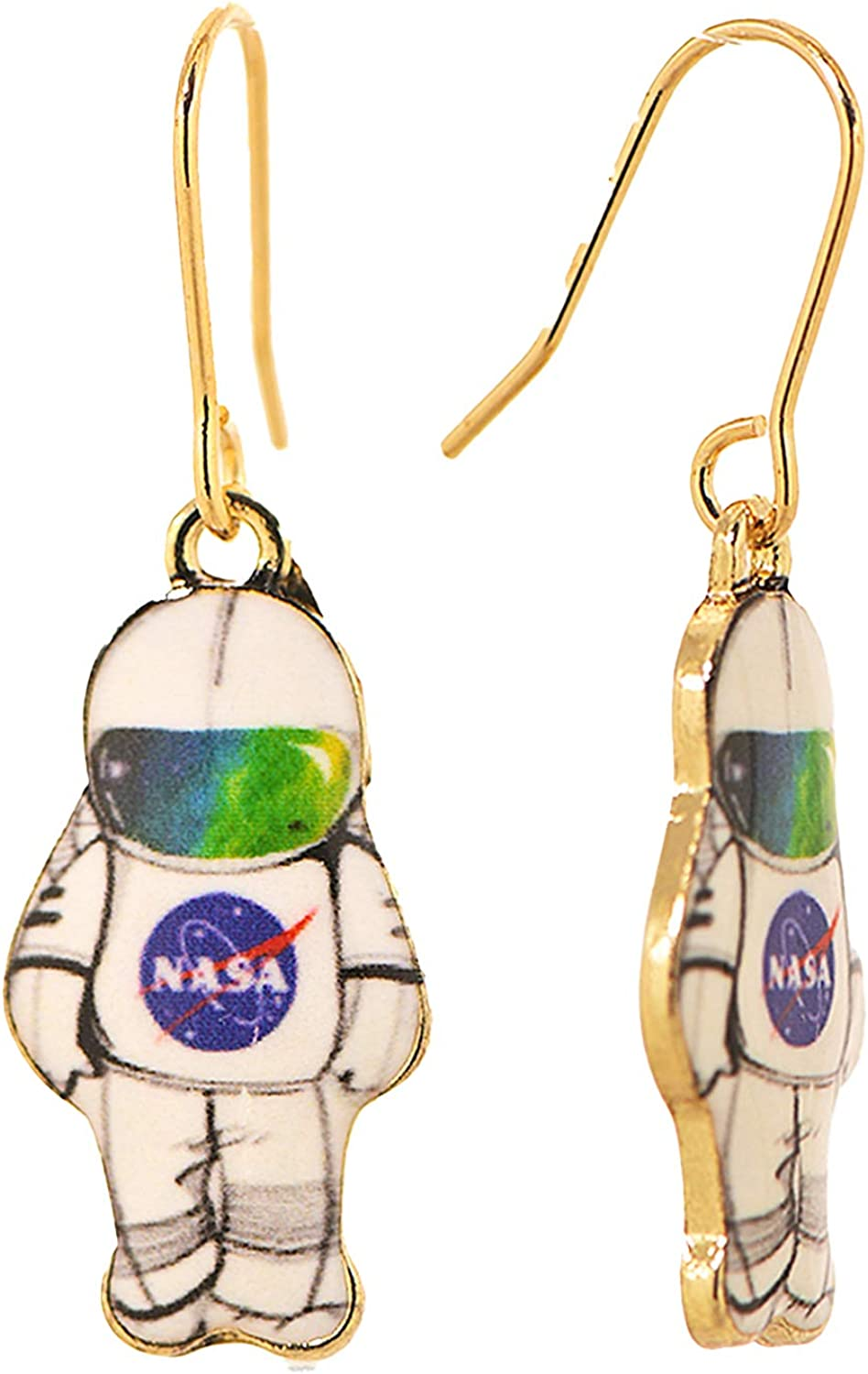 Spinningdiasy Low price Across Universe Astronaut Aspiring For Price reduction Earrings