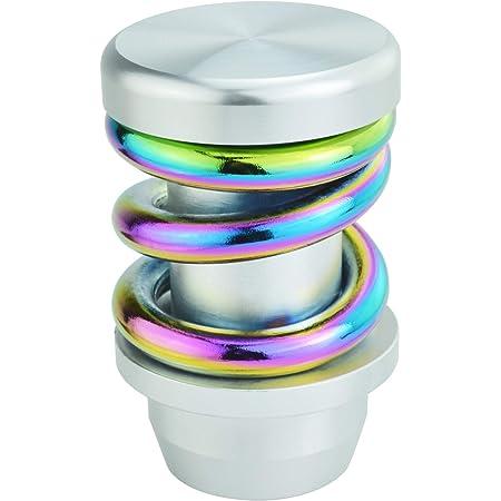 Multicolor+Silver Aluminum Alloy Car Stick Shift Head for Universal Manual Automatic Cars Bashineng Spring Gear Shifter Knob