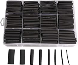 625pcs Heat Shrink Tubing Kit, Heat Shrink Tubes Wire Wrap, Ratio 2:1 Electrical Cable Sleeve Assortment with Storage Case for Long Lasting Insulation Protection by MILAPEAK (8 Sizes, Black)