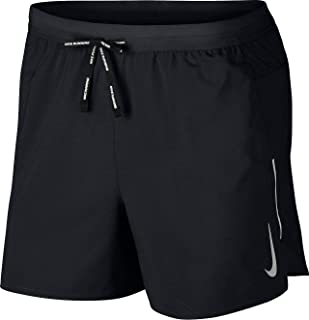 "Nike Men's Flex Stride 5""/13cm Running Shorts, Black/Reflective Silver, M"