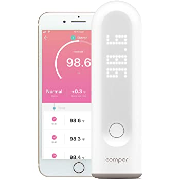 Comper Smart Forehead Thermometer, Baby Thermometer, Medical No Touch Infrared Temporal Fever Thermometer, Accurate, None Contact, Digital Thermometer with Fast Reading and Recording for Kids, Adults