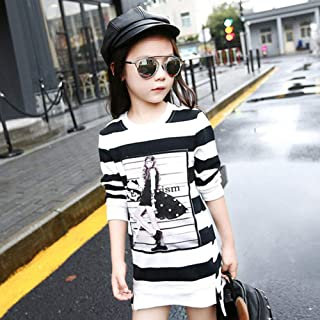 Girls Dress Hooded Striped Long Sleeve Kids Dresses Teen Winter Girls Clothes 4-14 Years