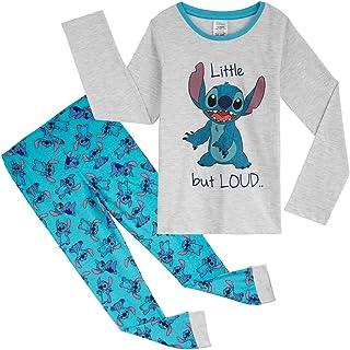 Stitch Pijama Niña, Pijamas Niños Invierno, Conjunto 2 Piezas Camiseta Manga Larga y Pantalon, Regalos para Niñas Adolescentes Edad 18 Meses-14 Años