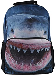 Skymoon Cute Kid's Animal Printing 3D Face School Backpack