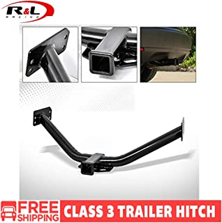 R&L Racing Black Finished Class 3 Trailer Hitch Receiver Rear Bumper Tow Kit 2