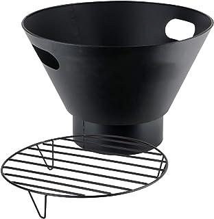 RM Design Feuerschale aus Metall Terrassenofen für den Garten in schwarz Durchmesser 53 cm