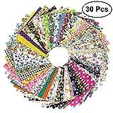 ROSENICE 30 Blätter Patchwork Stoffe Stoffpaket DIY Nähen