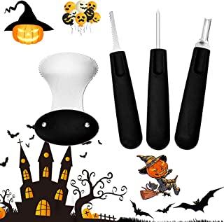Diravo Professional Kit-Includes 4 10 Stencils, Heavy Duty Stainless Steel Tool Set, Used As a Carving Knife for Pumpkin H...