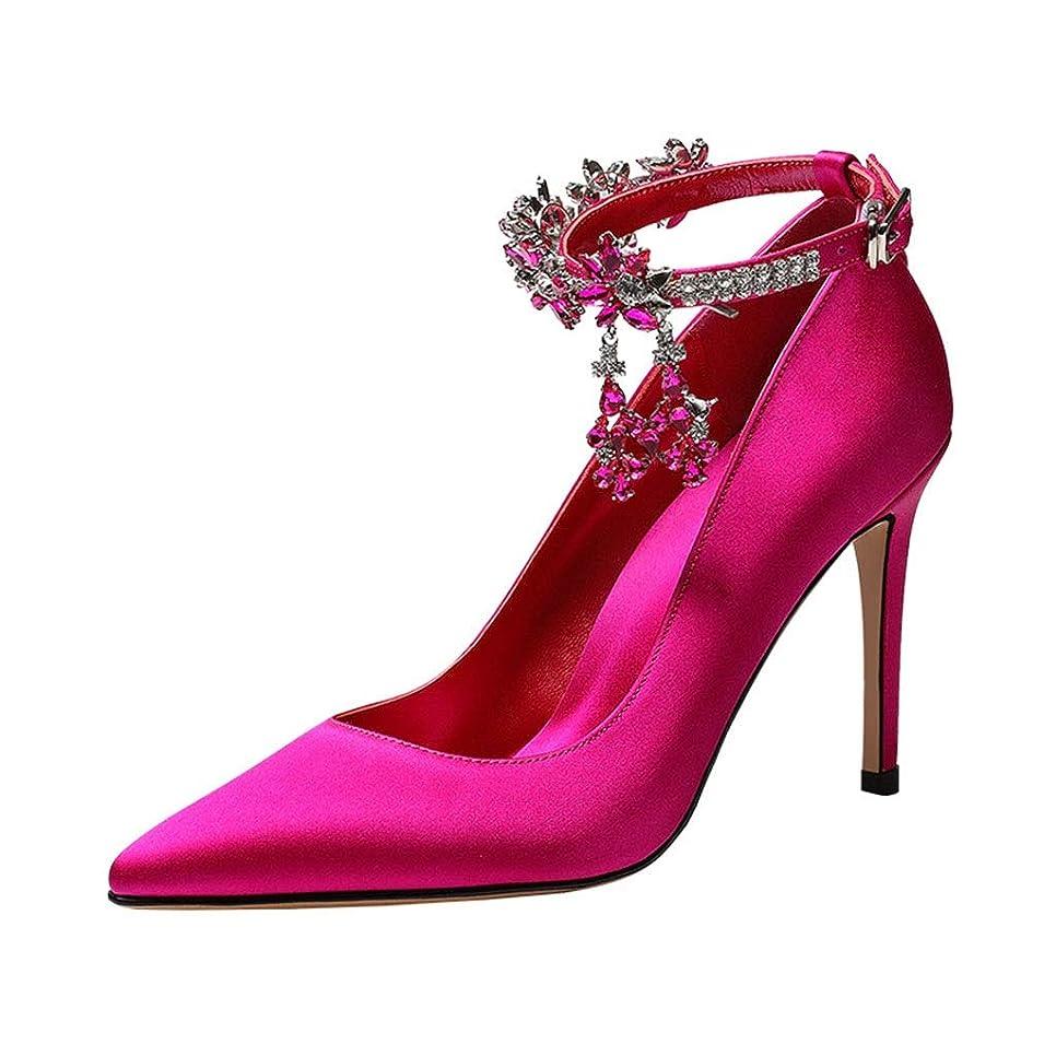 覚えている既婚アンカー下駄?草履 レディースシューズ - カジュアル - レザーレット - スティレット - スティレットシューズ - スティレットシューズ - ヒール - ブラック 品 (Color : Pink, Size : 37)