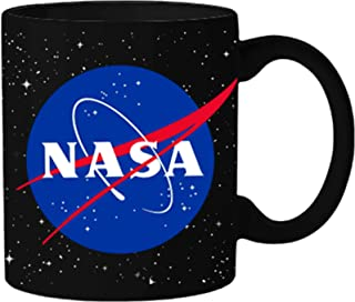Silver Buffalo NAS31234 NASA Logo with Stars Ceramic Mug, 20-Ounce, Black