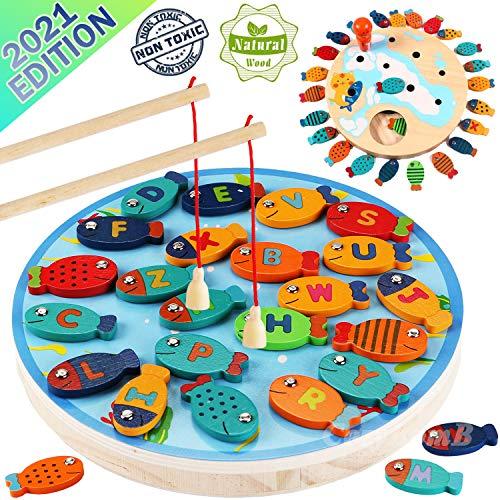CozyBomB Magnetic Wooden Fishing Ga…