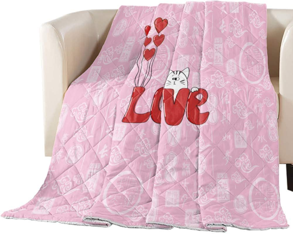 Cheap Max 40% OFF SALE Start Comforter Duvet Insert Home Quilt Cat Day Pink Cute Valentine's